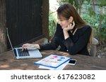 young beautiful blond caucasian ...   Shutterstock . vector #617623082
