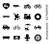 wheel icons set. set of 16... | Shutterstock .eps vector #617640935