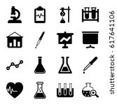 analysis icons set. set of 16... | Shutterstock .eps vector #617641106