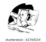 baby with bottle   retro clip... | Shutterstock .eps vector #61764214