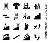 step icons set. set of 16 step... | Shutterstock .eps vector #617642168