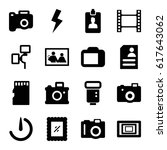 photo icons set. set of 16... | Shutterstock .eps vector #617643062