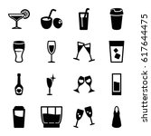cocktail icons set. set of 16... | Shutterstock .eps vector #617644475