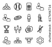 team icons set. set of 16 team... | Shutterstock .eps vector #617646716