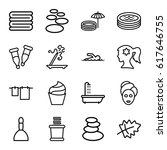 spa icons set. set of 16 spa... | Shutterstock .eps vector #617646755