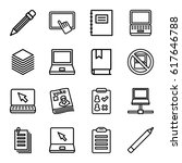 notebook icons set. set of 16... | Shutterstock .eps vector #617646788