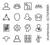 profile icons set. set of 16... | Shutterstock .eps vector #617654885