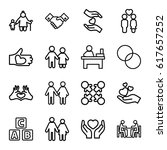 together icons set. set of 16... | Shutterstock .eps vector #617657252