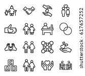together icons set. set of 16... | Shutterstock .eps vector #617657252