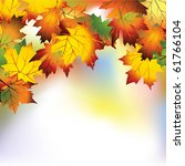 vector autumn background with... | Shutterstock .eps vector #61766104
