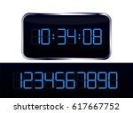 blue digital clock vector and... | Shutterstock .eps vector #617667752