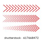 sideways set linear signs... | Shutterstock .eps vector #617668472