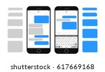 text message boxes on... | Shutterstock .eps vector #617669168