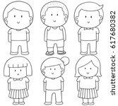 vector set of children | Shutterstock .eps vector #617680382