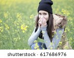 pollen allergy in the nature | Shutterstock . vector #617686976