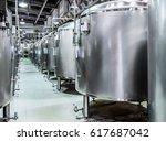 Modern Beer Factory. Rows Of...