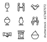 shake icons set. set of 9 shake ... | Shutterstock .eps vector #617687072