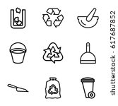 garbage icons set. set of 9... | Shutterstock .eps vector #617687852