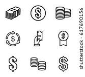 income icons set. set of 9... | Shutterstock .eps vector #617690156