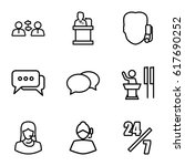 talk icons set. set of 9 talk... | Shutterstock .eps vector #617690252