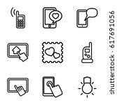 smartphone icons set. set of 9... | Shutterstock .eps vector #617691056