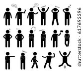 stick figure of a man. set of... | Shutterstock . vector #617693396