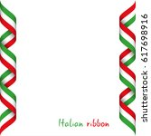 colored ribbon with the italian ... | Shutterstock .eps vector #617698916