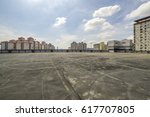 big parking area in rooftop  | Shutterstock . vector #617707805