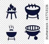 bbq icons set. set of 4 bbq... | Shutterstock .eps vector #617713136