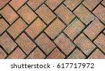floor brick texture material... | Shutterstock . vector #617717972
