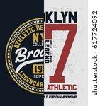 new york  brooklyn college... | Shutterstock .eps vector #617724092
