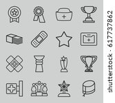 first icons set. set of 16... | Shutterstock .eps vector #617737862