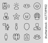 user icons set. set of 16 user... | Shutterstock .eps vector #617739902