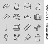 handle icons set. set of 16... | Shutterstock .eps vector #617740022