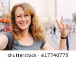 portrait of smiling 40 years... | Shutterstock . vector #617740775