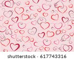 Background Of Contour Hearts...