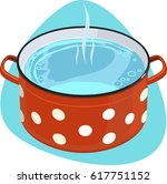 cooking pot with polka dot... | Shutterstock .eps vector #617751152