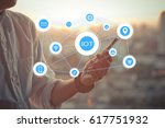 iot internet of things concept... | Shutterstock . vector #617751932