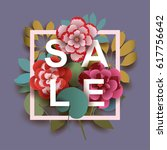 summer sale card with different ... | Shutterstock .eps vector #617756642