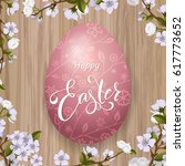 happy easter lettering  painted ... | Shutterstock .eps vector #617773652