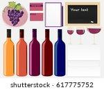 wine set mock up  | Shutterstock .eps vector #617775752