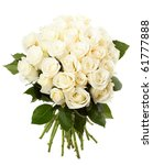 Stock photo cream roses 61777888