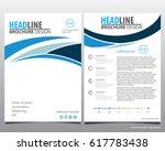 annual report brochure flyer... | Shutterstock .eps vector #617783438