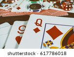 playing cards | Shutterstock . vector #617786018