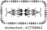 vector floral design elements   | Shutterstock .eps vector #617788862