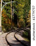 Old Railway In Autumn