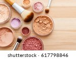 makeup powder with foundation... | Shutterstock . vector #617798846