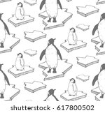 seamless pattern with hand... | Shutterstock .eps vector #617800502