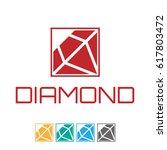 diamond logo | Shutterstock .eps vector #617803472