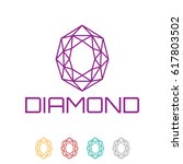 diamond logo | Shutterstock .eps vector #617803502